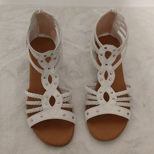White Seychelles Gladiator Sandals sz 6